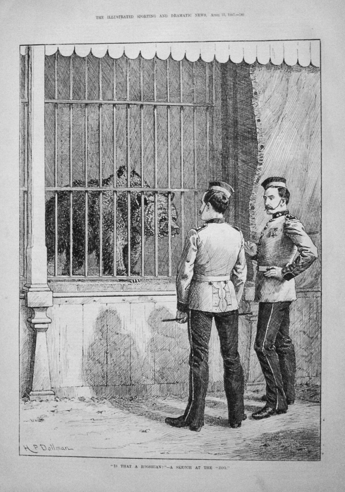 """Is That A Rooshian ?"" - A Sketch At The ""Zoo."" 1885"