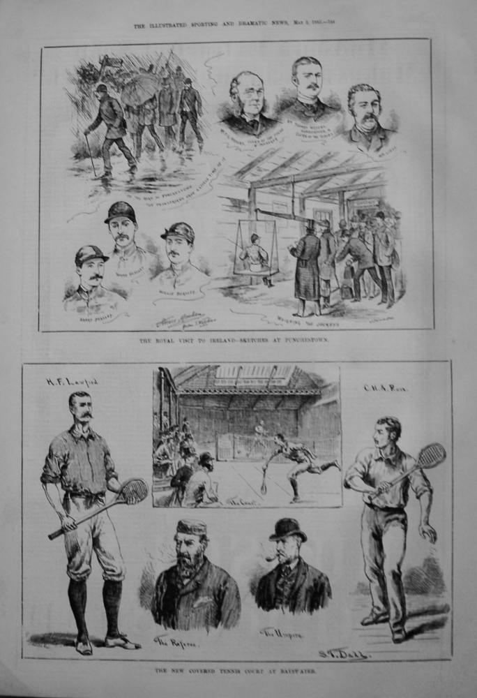 New Covered Tennis Court at Bayswater. 1885.