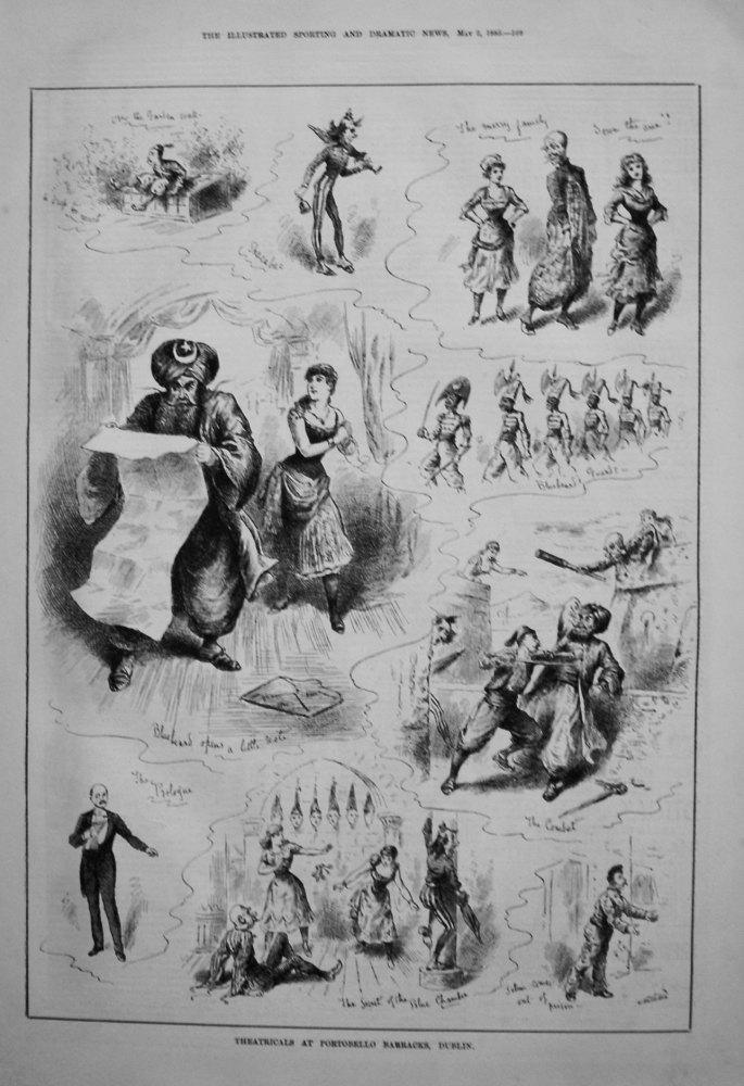 Theatricals at Portobello Barracks, Dublin. 1885
