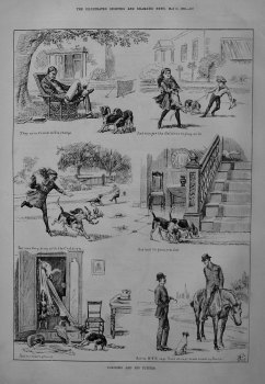 Tompkins and His Puppies. 1885