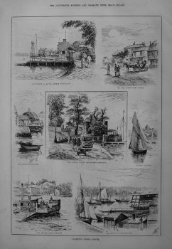 Yachting Ports. - Cowes. 1885