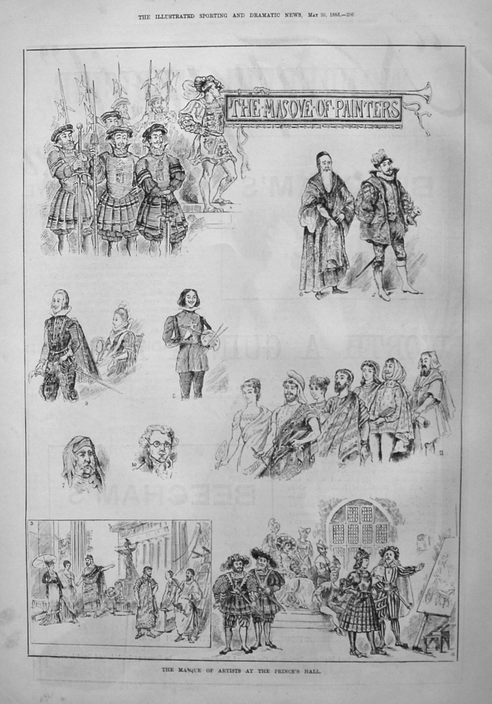Masque of Artists at the Prince's Hall. 1885