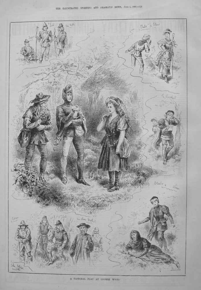 A Pastoral Play at Coombe Wood. 1885