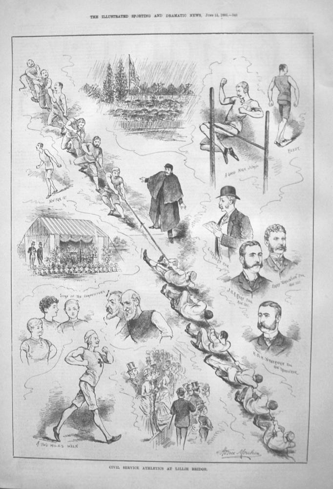 Civil Service Athletics At Lillie Bridge. 1885