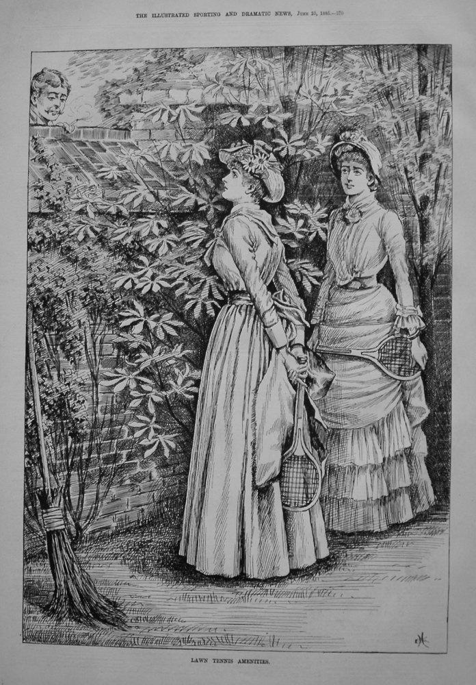 Lawn Tennis Amenities. 1885