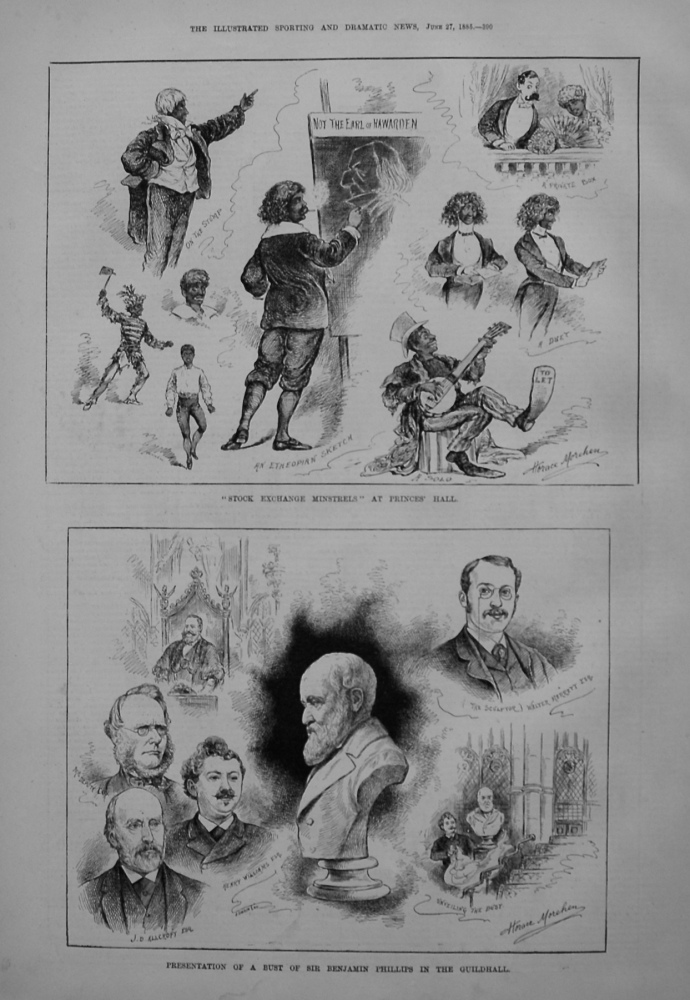 Presentation of a Bust of Sir Benjamin Phillips in the Guildhall. 1885