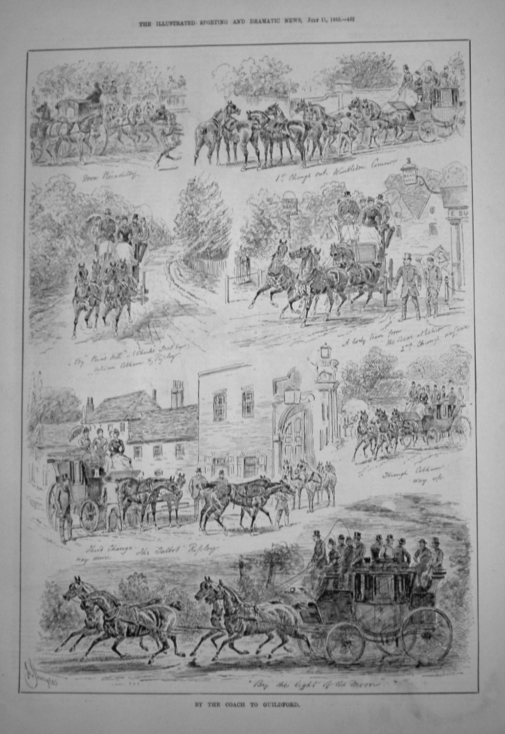By The Coach To Guildford. 1885