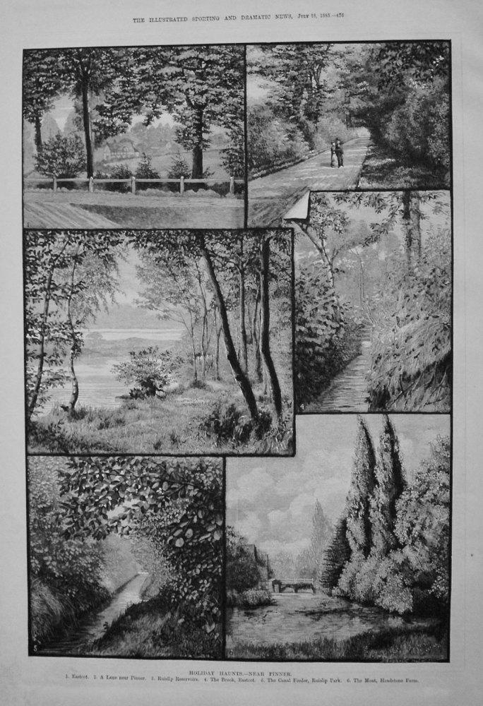 Holiday Haunts.- Near Pinner. 1885
