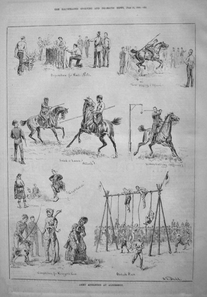 Army Athletics at Aldershot. 1885