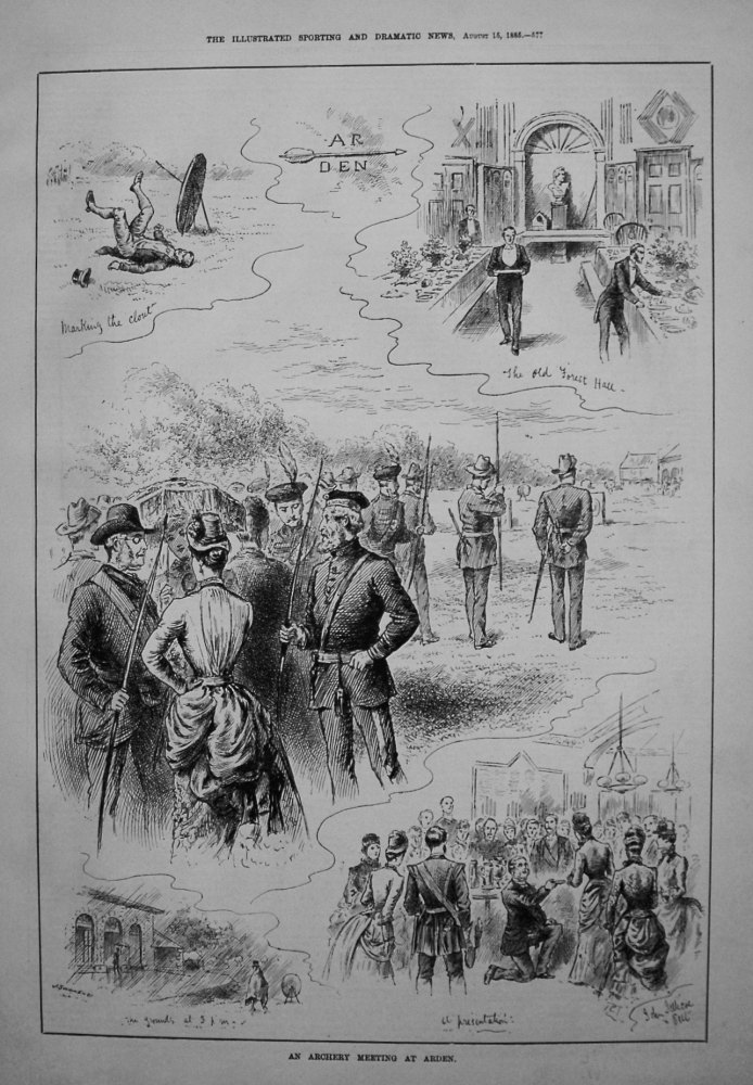 Archery Meeting at Arden. 1885