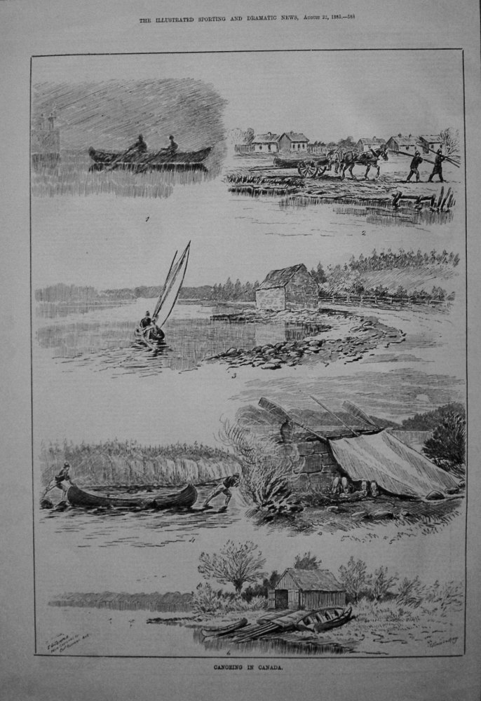 Canoeing in Canada. 1885