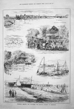 Worthing Regatta, and Volunteer Fire Brigade Contests at Shoreham. 1885