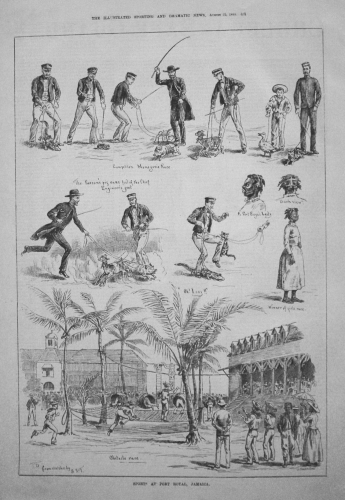 Sports at the Port Royal, Jamaica. 1885