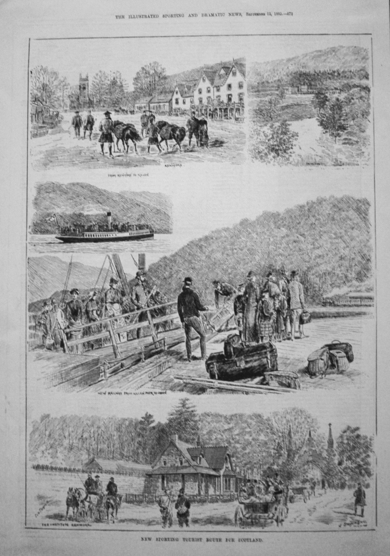 New Sporting Tourist Route for Scotland. 1885