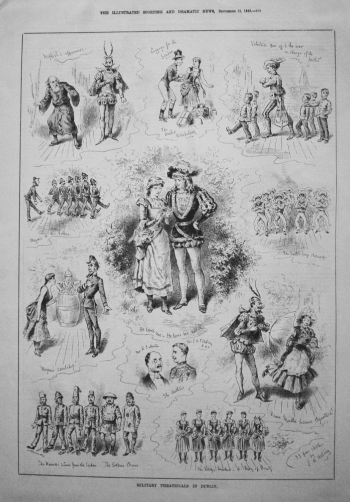 Military Theatricals in Dublin. 1885