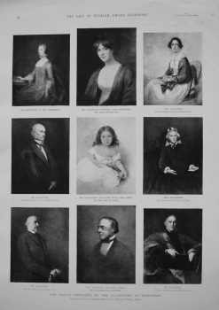 Family Portraits of the Gladstones at Hawarden.