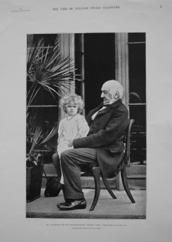 Mr. Gladstone and his Granddaughter, Dorothy Drew, - Hawarden, October 1893.