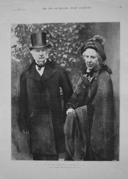 Mr. and Mrs. Gladstone at Hawarden in 1895.