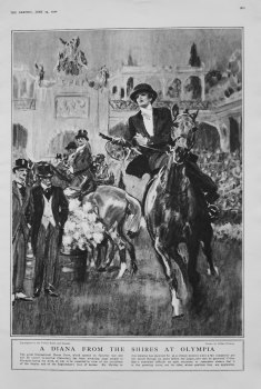 A Diana from the Shires at Olympia. 1922