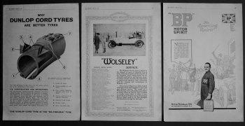 Motoring Adverts. 1922