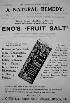 Eno's Fruit Salt. 1902