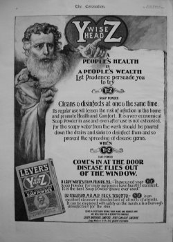Y Wise Head Z, Royal Disinfectant Soap Powder. 1902.