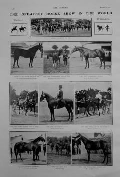 Greatest Horse Show in the World. 1907. (Dublin).