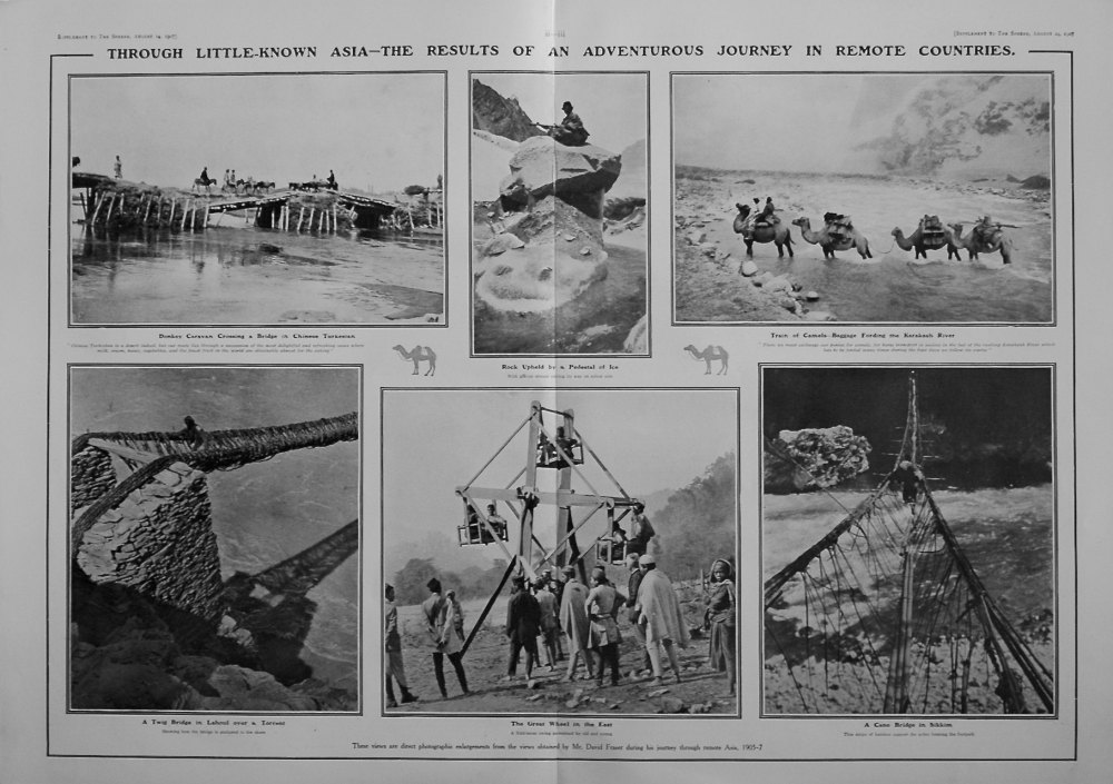 The Sphere, August 24th, 1907,  (Supplement) :  A Long Journey in Little Known Lands.