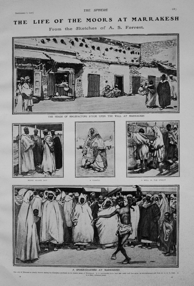 The Life of the Moors at Marrakesh. 1907