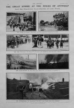 Great Strike at the Docks of Antwerp. 1907