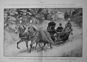 Visit of King Edward VII. to His Sister, the Empress Frederick. 1901