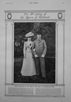 Wedding of the Queen of Holland. Queen Wilhelmina and Her Consort, Duke Henry of Mecklenburg-Schwerin. 1901