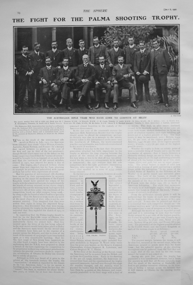 Fight for the Palma Shooting Trophy. 1907