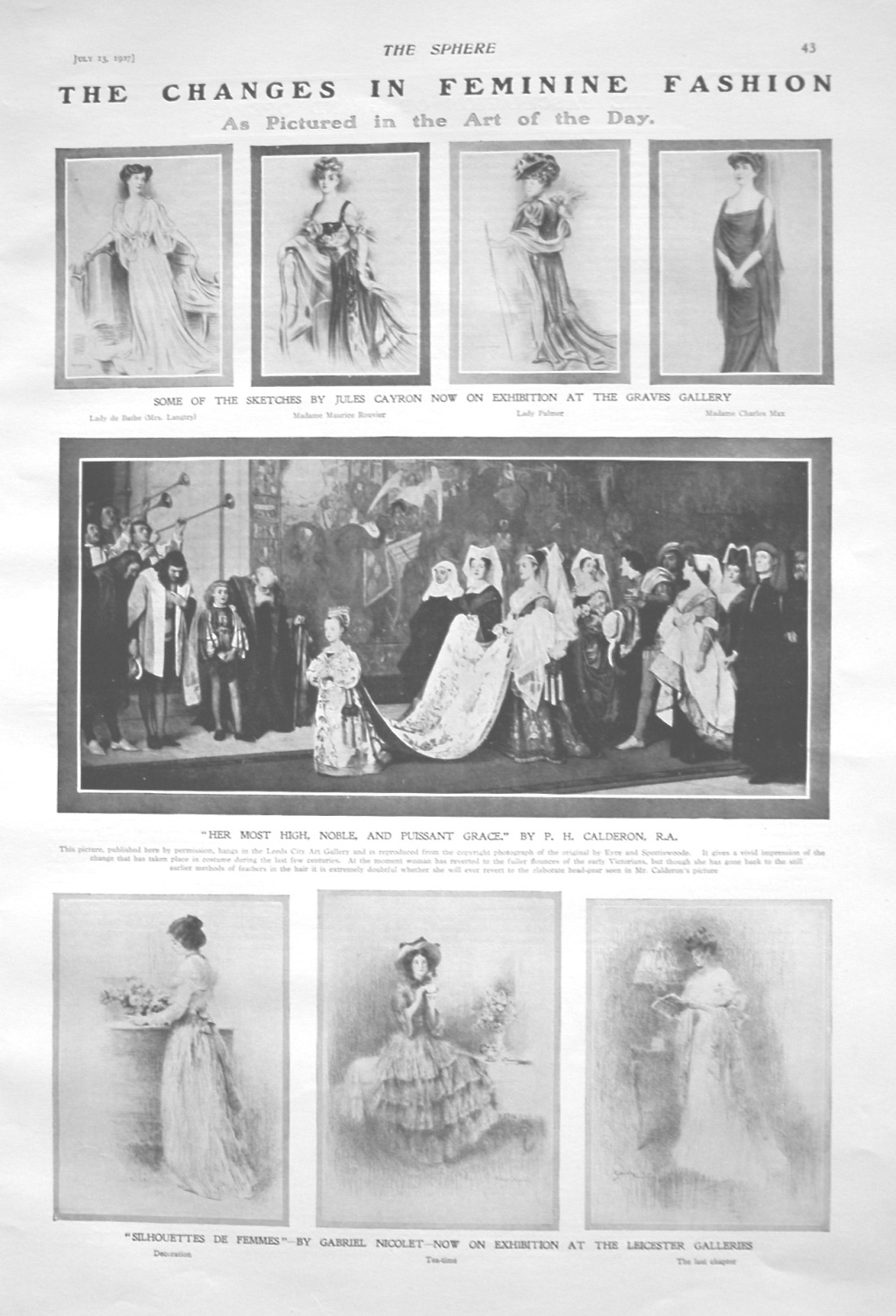 Changes in Feminine Fashion. As Pictured in the Art of the Day. 1907
