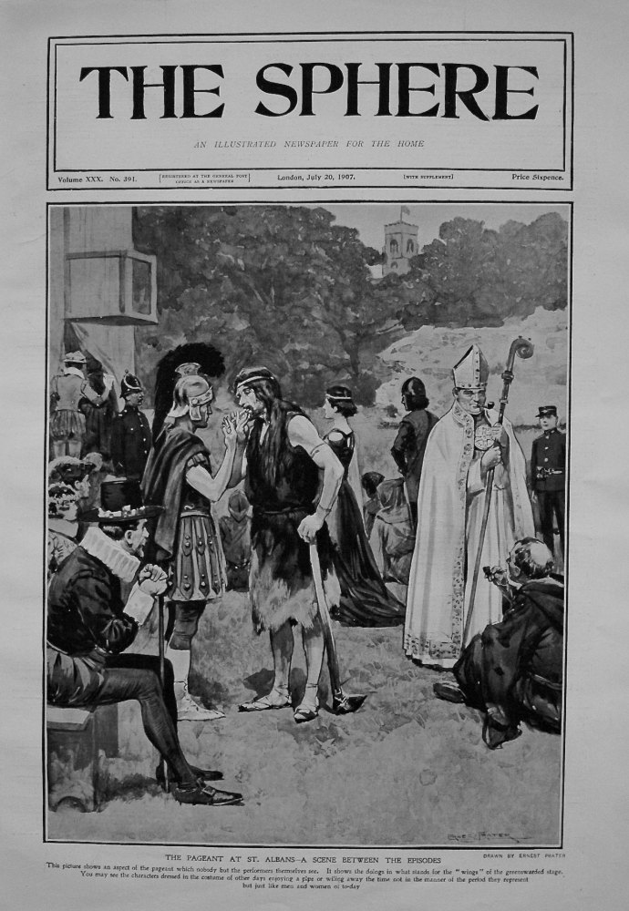 Pageant at St. Albans - A Scene between the Episodes. 1907