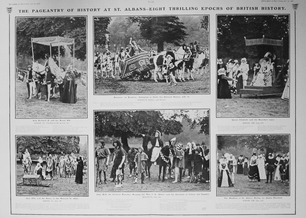 The Sphere, July 20th, 1907.  (Supplement) : The Pageantry of History at St. Albans.