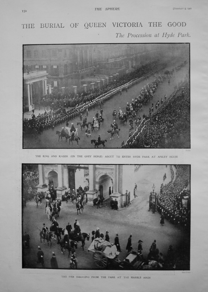 Burial of Queen Victoria The Good : The Procession at Hyde Park. 1901