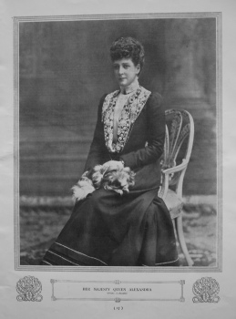 Her Majesty Queen Alexandra. (Photograph).