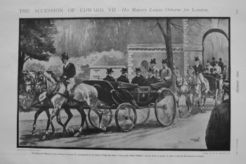 Accession of Edward VII. - His Majesty Leaves Osborne for London.