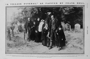 """A Village Funeral,"" as Painted by Frank Holl. 1907"
