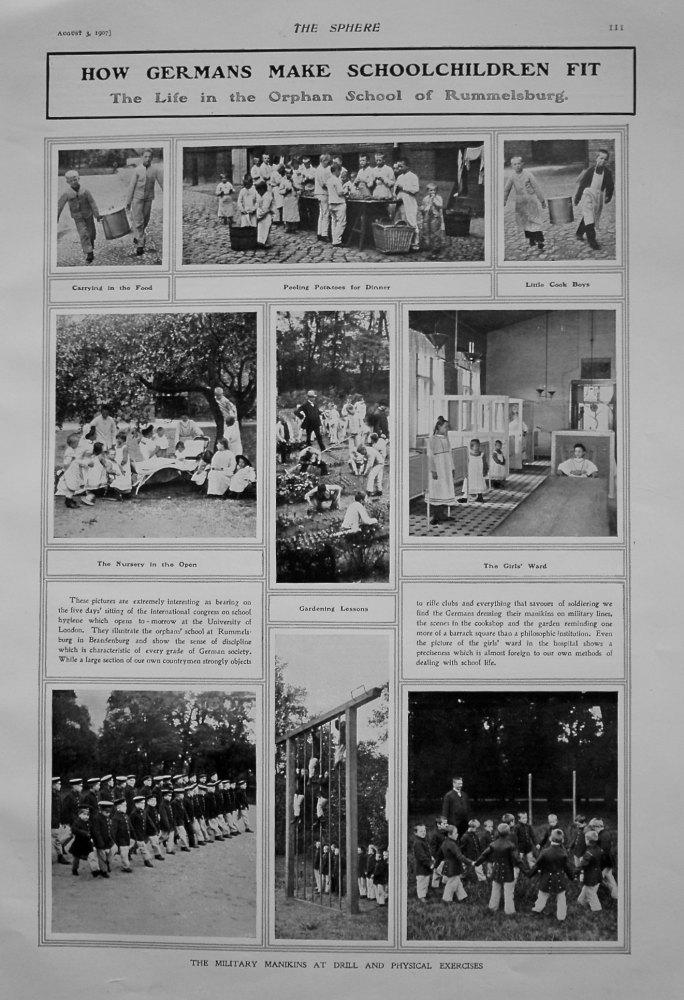 How Germans Make Schoolchildren Fit : The Life in the Orphan School of Rummelsburg. 1907