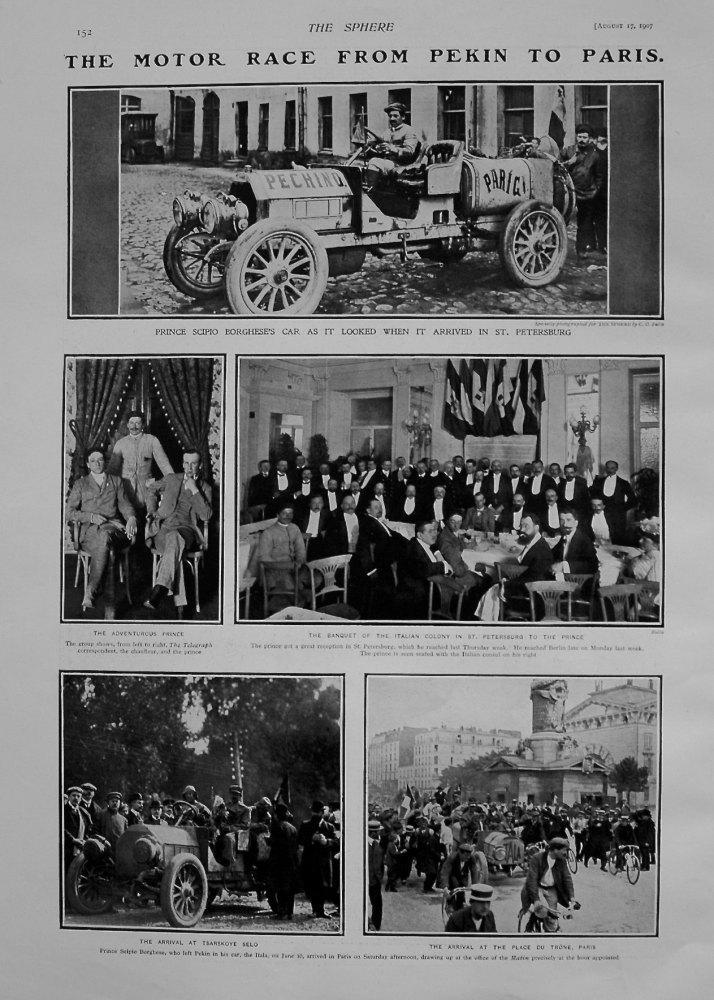 Motor Race from Pekin to Paris. 1907