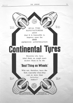 Continental Tyres. 1910