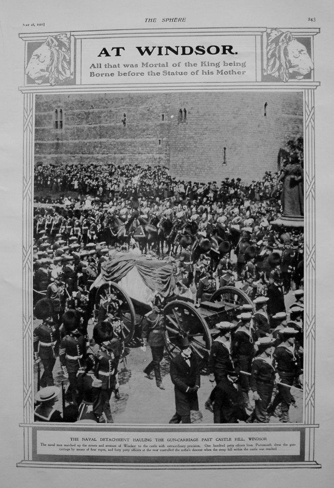 At Windsor. (Funeral of King Edward VII) 1910