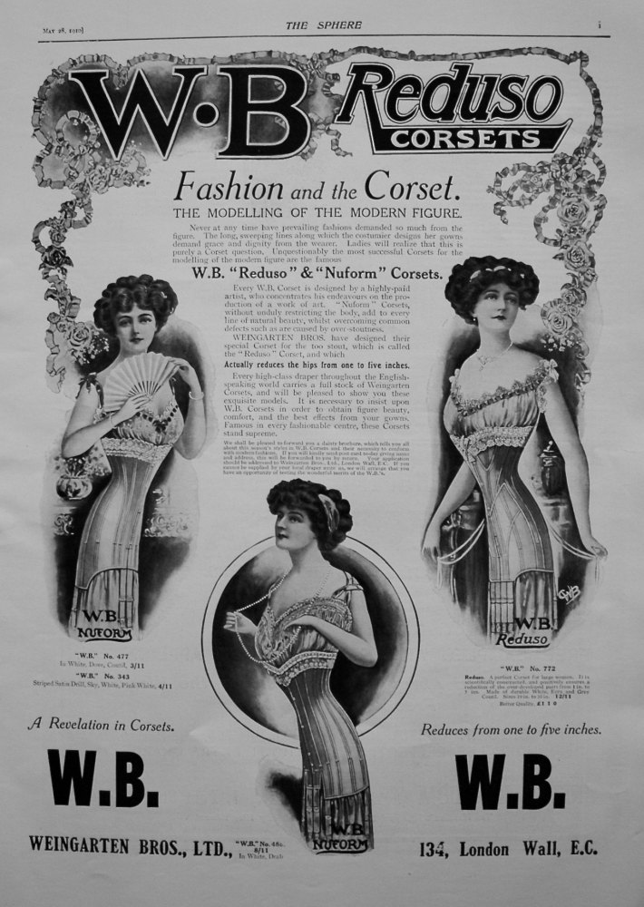 Weingarten Bros., Ltd. (Reduso Corsets) 1910.
