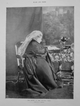 The Queen at Her Writing Table. (Victoria). 1901