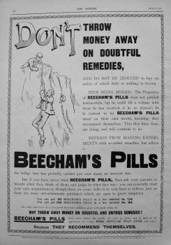 Beecham's Pills. 1901.