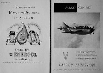 Fairey Aviation. BP (Energol).