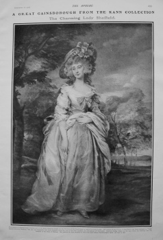 A Great Gainsborough from the Kann Collection - The Charming Lady Sheffield. 1901