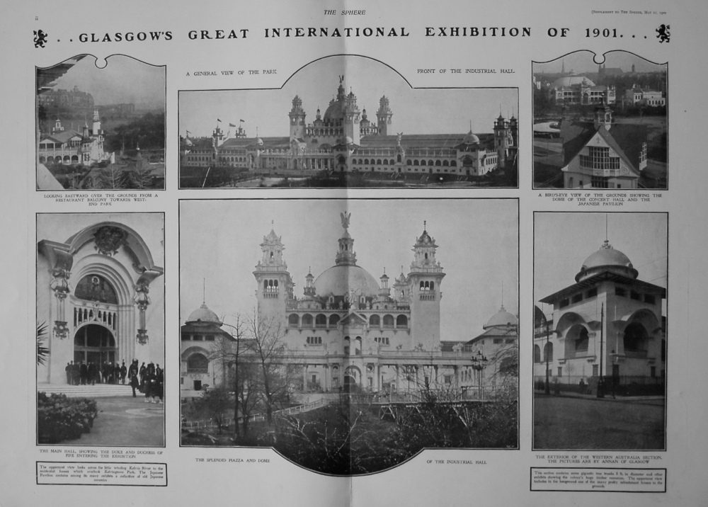 The Sphere, May 11th, 1901.  (Supplement) : The Opening of the Glasgow Exhibition by the Princess Royal of Great Britain and Ireland.